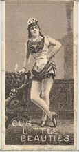 From the Actresses series (N57) promoting Our Little Beauties Cigarettes for Allen & Ginter brand tobacco products, 1890.