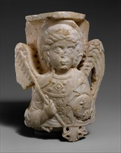 Capital with Bust of the Archangel Michael, Byzantine, 1250-1300.