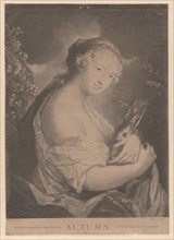 Autumn: a young woman holding a rabbit, 1775.