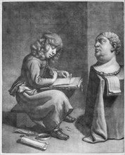 Boy Drawing a Bust of the Roman Emperor Vitellius, ca. 1665-75.