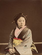 Shin, A Well-known Tea House Girl in Yokohama, 1870s.