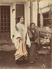 Lady & Servant, 1870s.