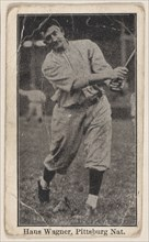 Hans Wagner, Pittsburg Nationals, from the Baseball Players set (W500), ca. 1915.