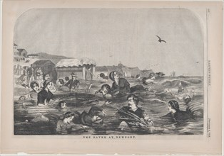The Bathe at Newport (Harper's Weekly, Vol. II), September 4, 1858.