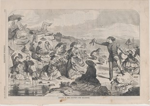 August in the Country - The Sea-Shore (Harper's Weekly, Vol. III), August 27, 1859.