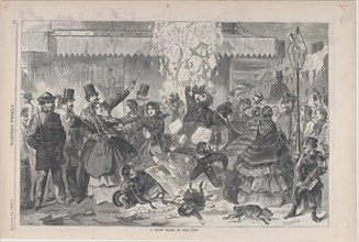 A Snow Slide in the City (Harper's Weekly, Vol. IV), January 14, 1860.