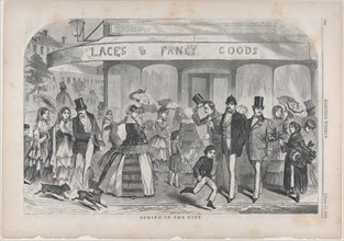 Spring in the City (Harper's Weekly, Vol. II), April 17, 1858.