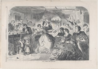 Fall Games - The Apple Bee (Harper's Weekly, Vol. III), November 26, 1859.