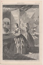 Any Thing for Me, if you Please? Post-Office of the Brooklyn Fair in Aid of the Sanitary Commission (Harper's Weekly, Vol. VIII), March 5, 1864.