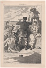 """The Approach of the British Pirate """"Alabama"""" (Harper's Weekly, Vol. VII), April 25, 1863."""