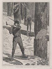 Lumbering in Winter (Every Saturday, Vol. II, New Series), January 28, 1871.