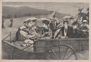The Straw Ride (Harper's Bazar, Vol. II), September 25, 1869.