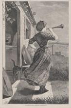 The Dinner Horn (Harper's Weekly, Vol. XIV), June 11, 1870.