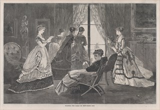 Waiting for Calls on New Year's Day (Harper's Bazar, Vol. II), January 2, 1869.