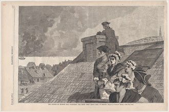 The Battle of Bunker Hill - Watching the Fight from Copp's Hill, in Boston (Harper's Weekly, Vol. XIX), 1875.