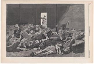 Station-House Lodgers (Harper's Weekly, Vol. XVIII), February 7, 1874.