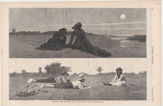 Flirting on the Sea-Shore and on the Meadow (Harper's Weekly, Vol. XVIII), September 19, 1874.