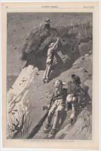 "Raid on a Sand-swallow Colony - ""How Many Eggs?"" (Harper's Weekly, Vol. XVIII), June 13, 1874."
