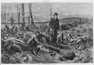 Army of the Potomac - Sleeping on Their Arms (Harper's Weekly, Vol. VIII), May 28, 1864. Formerly attributed to Winslow Homer.