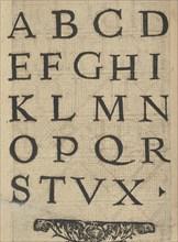 Ce est ung tractat de la noble art de leguille ascavoir ouvraiges de spaigne... page 13 (verso), after 1527. [From a pattern book of embroidery, lace and lace making].