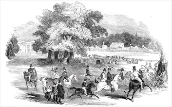 Gorhambury Races - from a sketch in the park