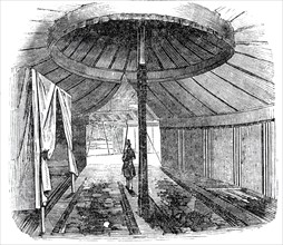 Interior of Sidi Mohammed's tent