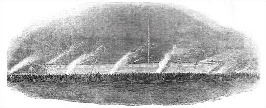 The Great Britain steam-ship leaving Cumberland Basin