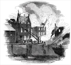Fire at Boston - from a drawing by Mr. W. Caister