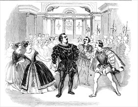"Scene from Costa's opera of ""Don Carlos"""
