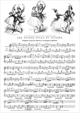 M.elle Carlotta Grisi and M. Perrot in the Polka
