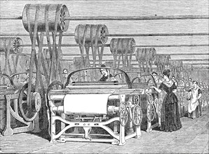 Interior of a Power-Loom factory