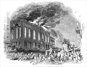 Burning of the Washington Hotel