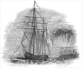 The British Force off Tahiti - Her Majesty's Ketch