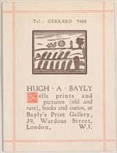 Trade card for Hugh A. Bayly