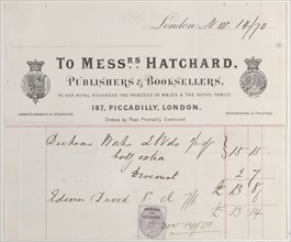 Trade card for Messrs. Hatchard