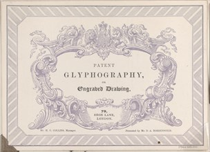 Trade card for Edward Palmer's Glyphographic Office