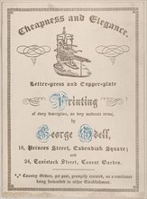 Trade card for George Odell