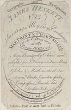 Trade Card for James Heskett