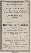 Trade Card for T. B. Watkins