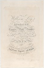 Trade Card for William Ley
