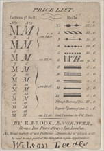 Trade Card for R. Brook