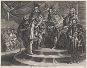 Plate 25: Philip crowned King of Spain by his father