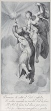 Minerva assisting Prometheus as he attempts to scale the heavens