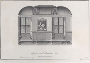 Plate 2: cross-section of the Hall of the Institute of Bologna