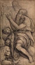 Saint Jerome kneeling before a crucifix