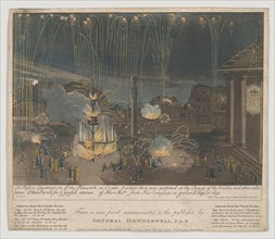 A Perfect Description of the Firework in Covent Garden that was perform'd at the Charge of...