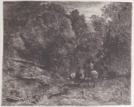 Two Travelers in a Forest (Le Cavalier en forêt et le piéton)