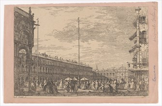 Piazza San Marco with the Procuratie Nuove on the left and the church of San Geminiano ...