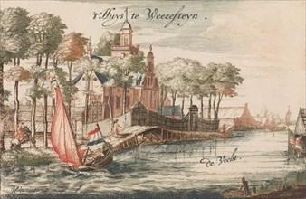 't Huys Weeresteyn by the river Vecht' in: Tooneel Der Voornaamste Nederlands Huizen