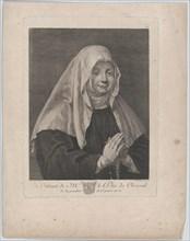 Portrait of a praying nun
